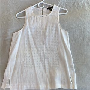 Jcrew Size 4 White Linen Top